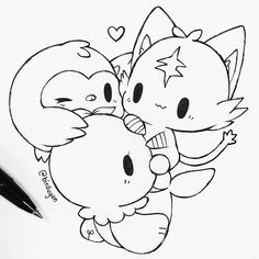 welcome to the starter family!!! *^* (oops, i drew them from memory and forgot popplio's ears...) (POKEMON COMMISSIONS ARE OPEN TOO BTW)