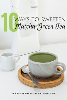 I want to review 10 ways you can sweeten your matcha drink specifically and hopefully you can continue experiencing what the world of matcha has to offer. #greenteamania #JapaneseGreenTeaCo #matchagreentea Matcha Drink, Green Tea Recipes, Green Tea Powder, Matcha Green Tea, Health Benefits, Canning, Drinks, Drinking, Beverages
