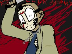 """"""" KILLER MOMMY """" friday the 13 fanart by: ThatOneSpoopyPerson"""