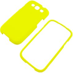 Rubberized Protector Case for Samsung Galaxy S III - Lovely Yellow