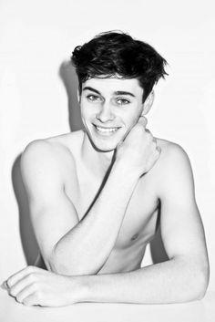 Joe Collier, smile, photo, man, black and white, refernece