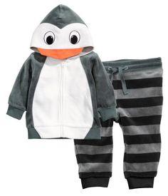 H&M Velour Penguin Set $29.95