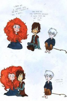 The Big Four Merida Hiccup Jack Frost