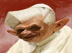 ArtStation - Pope Benedict Caricature, Paul Moyse