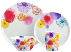 Margaret Berg Art: Floating+Florals+Dinnerware+(Sample+Mock-Up)