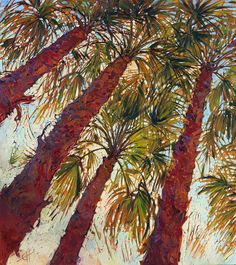 Into The Palms - Diptych Left Painting