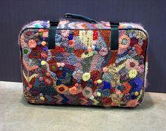 freeform covered suitcase ~ Prudence Mapstone