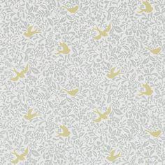 Sanderson Home Wallpaper Papavera Larksong Collection 214761 214761 Baby Nursery Wallpaper, Bird Wallpaper, Wallpaper Online, Home Wallpaper, Fabric Wallpaper, Wallpaper Roll, Pattern Wallpaper, Interior Wallpaper, Kitchen Wallpaper