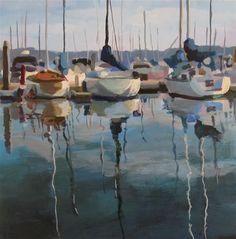 "Daily Paintworks - ""Marina Blue"" - Original Fine Art for Sale - © Kaethe Bealer"