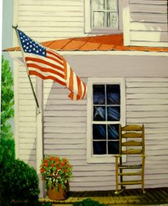Old Glory oil painting original artwork 16 X by vintagejetpatterns, $85.00 Original Paintings For Sale, Original Artwork, Old Glory, God Bless America, Cool Artwork, Painting Inspiration, Art For Sale, Folk Art, Beautiful Places