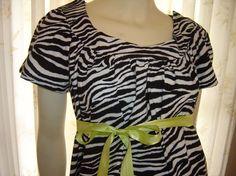 Maternity Hospital Gown/Trendy Style/Zebra by doodlebugzbymarilyn, $59.00