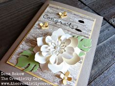 Check out the video tutorial on how to make this gorgeous Faux Weathered Wood using Stampin Up's Timeless Textures Stamp Set. http://www.thecreativitycave.com/my_weblog/2016/04/friday-quickie-techniques-and-tips-faux-weathered-wood.html