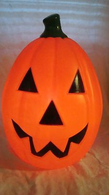 "Vintage Halloween Blow Mold ~ 21"" Tall Jack O' Lantern"