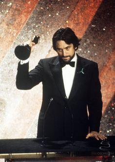 Robert De Niro Winning For Raging Bull 1980 Raging Bull The Godfather Part Ii Robert De Niro