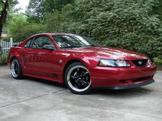 Image result for mustang gt red whit black 1996