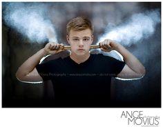 high school senior drummer portraits...love the smoke idea and backlit