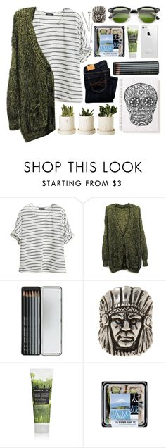 """""""skull full of candy"""" by claripadula ❤ liked on Polyvore featuring Abercrombie & Fitch, Caran D'Ache, DANNIJO, Korres and BOBBY"""