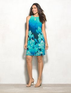 737ca9b8f5d Tropical Floral Halter Dress from dressbarn on Catalog Spree