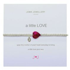 Joma Jewellery A Little Love Bracelet in Pink £10.99 at www.macmillansgifts.co.uk