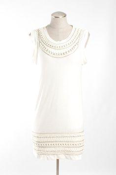 3.1 Phillip Lim Embellished Cotton Shift Dress - $112. Very modern Daisy Buchanan