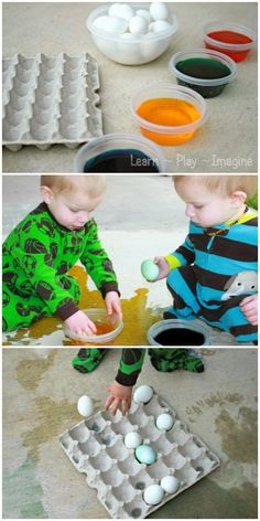 Tips for dyeing Easter eggs with toddlers - keeping the process fun and stress free!