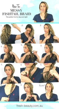 How to get a messy #fishtail #braid