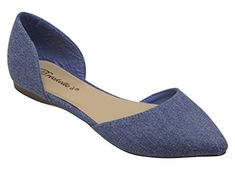 Breckelles Dolley 52 women's d'orsay Flat Almond pointed Toe Slip On Suede Blue Denim 8 - http://all-shoes-online.com/breckelles/8-b-m-us-breckelles-dolley-52-womens-dorsay-flat-toe-5
