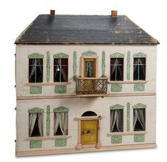 "Antique Doll and Dollhouses: 21 German Furnished Dollhouse ""The Lembach House"" by Christian Hacker,Provenance. Great style and detail. .....Rick Maccione-Dollhouse Builder www.dollhousemansions.com"
