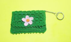 Crochet Key Ring Business Card Holder