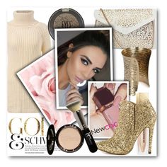 """""""Golden Child"""" by eclectic-chic ❤ liked on Polyvore featuring Retrò, Topshop, Burberry, Michael Antonio, It Cosmetics, women's clothing, women's fashion, women, female and woman"""