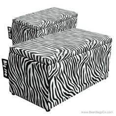 Comfort Research Big Joe 2 In 1 Bench Ottoman Zebra