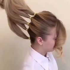 Wedding hair? Five ponytails become an elegant updo by one of our favorite artists @georgiykot #hairvideo FOLLOW @hothairvids to view over 260 pro-beauty videos