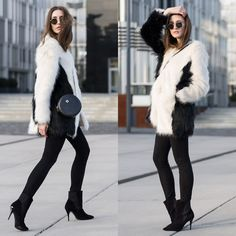 Get this look: http://lb.nu/look/8202441  More looks by Lisa Fiege: http://lb.nu/thelfashion  Items in this look:  Peter Kaiser Ankle Boots, Replay Skinny Jeans, Unreal Fur Faux Fur Coat, Ray Ban Sunglasses   #casual #classic #street