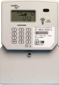A single phase, 80 Amp, STS keypad prepayment meter.