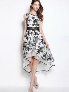 White Organza Asym Maxi Dress?