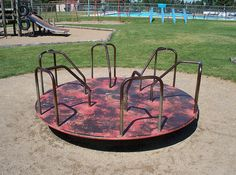 Old playground merry-go-round. Cameron-Hollyer Ascheman - these always remind me of the one in the park in Welcome. Those Were The Days, The Good Old Days, Back In My Day, Merry Go Round, Oldies But Goodies, My Youth, Ol Days, Good Ole, 90s Kids