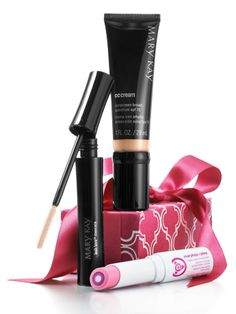 Flash & Dash: For the girl on the go, get the perfect makeup trio.  Set includes: Mary Kay® CC Cream Sunscreen Broad Spectrum SPF  Mary Kay At Play™ Triple Layer Tinted Balm in Pink Again Mary Kay® Lash Love® Mascara in I ♥ black