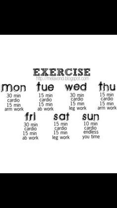 A daily exercise routine.