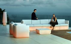 Pearl Resin Sectional Sofa Collection