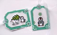 Nelasbasteleien: Eisbär und Pinguin Geschenkanhänger
