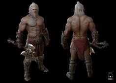ArtStation - diablo barbarian, jihoon kim