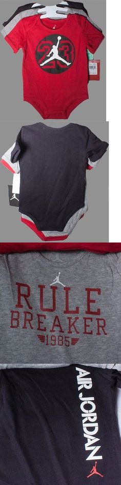 Michael Jordan Baby Clothing: Nwt~Lot Of 3~Michael Jordan Onesies~Baby Boy Sz 6/9 M BUY IT NOW ONLY: $6.5