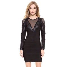 Long Sleeves Bandage Dress
