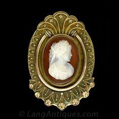 Carnelian Cameo Locket - 50-1-2379 - Lang Antiques