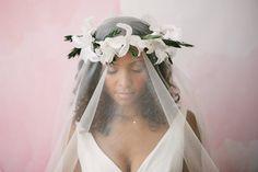 Stunning handmade feather flower boho beach style bridal