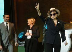 Yoko Ono, children launch interactive singing of Lennon's 'Imagine' for charity