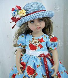 "Outfit for Dianna Effner Little Darling 13"" by Ulla, Kitten Love Blue #DiannaEffner"