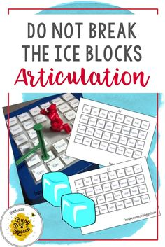 Fun way to add a speech therapy twist to the game Don't Break the Ice! Students can practice their articulation sounds using this fun winter DIY to accompany the game.