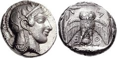 G155 A Rare and Important Greek Silver Decadrachm of Athens (Attica), Undoubtedly One of the Most Prestigious of All Greek Coins | by Ancient Art