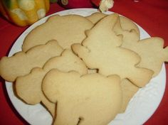 Amish eggless sugar cookies.